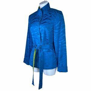 Linea Louis Dell'Olio Turquoise & Lime Jacket XS